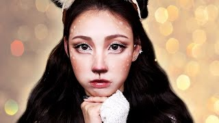 getlinkyoutube.com-[ENG] Rudolph Inspired Art Makeup Tutorial 루돌프 아트 메이크업  l 이사배(Risabaeart)
