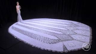 "getlinkyoutube.com-World's Largest Beaded Wedding Dress: Gail Be Designs ""Fantasy"""