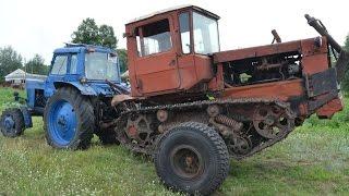 getlinkyoutube.com-Фермер Иван Золотарь. Трактор ДТ-75 на колёсной паре