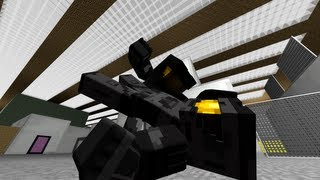 Minecraft Red Vs Blue Tex Fight Animation
