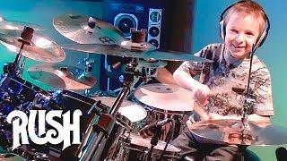 getlinkyoutube.com-Tom Sawyer - RUSH - Drum Cover - 7 year old Drummer - Avery Drummer Molek