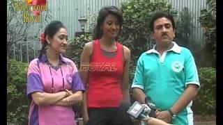 On location of TV Serial 'Tarak Mehta Ka Ooltah Chashmah'  yoga sequence