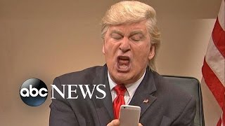 getlinkyoutube.com-Donald Trump, Alec Baldwin Tweet Over Continuing 'SNL' Skits