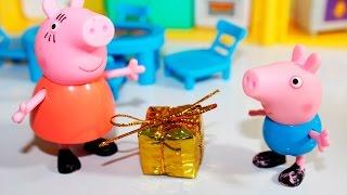 getlinkyoutube.com-O presente SURPRESA de Pig George da Família Peppa Pig -  Em Portugues Clube Kids