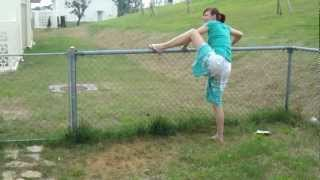 getlinkyoutube.com-Drunken Wife Attempting to Hop a Fence