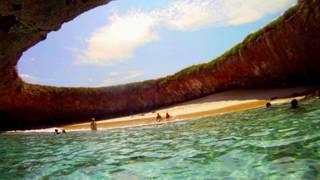 getlinkyoutube.com-Marietas Islands Puerto Vallarta Nuevo Vallarta Mexico hidden Beach las islas marietas