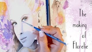 getlinkyoutube.com-Watercolour Speed Painting - Abstract portrait with Watercolour Pencil by zAcheR-fineT