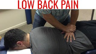 getlinkyoutube.com-Full spine CHIROPRACTIC adjustment for LOW BACK PAIN does NOT work.