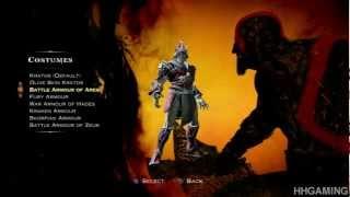 getlinkyoutube.com-God of War Ascension - all costumes Kratos dressed up - god of war 4 PS3 HD God of War Ascension