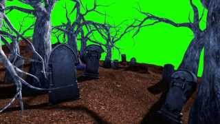 getlinkyoutube.com-Green Screen Halloween Cemetery Living Trees - Footage PixelBoom