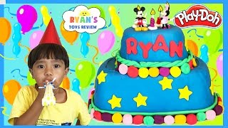 getlinkyoutube.com-PLAY DOH CAKE Happy Birthday Chocolate Surprise Eggs Mashems and Fashems Surprise Toys Disney Eggs