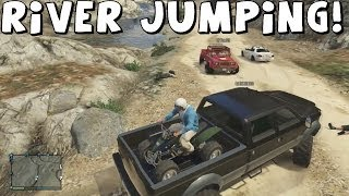 Grand Theft Auto 5 | River Jumping In Off-Road Trucks