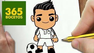 getlinkyoutube.com-COMO DIBUJAR CRISTIANO RONALDO KAWAII PASO A PASO - Dibujos kawaii faciles - How to draw a CR7
