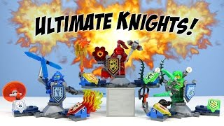 getlinkyoutube.com-LEGO Nexo Knights Ultimate Clay Macy & Aaron Minifigure Sets Opening Building