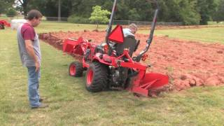 getlinkyoutube.com-How To Plow With A Subcompact/Kubota BX Tractor