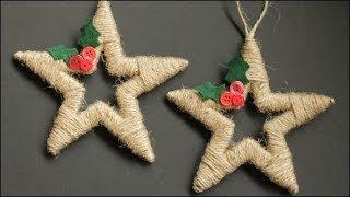 Novogodišnja dekoracija - malo kartona, kanapa i Zvezdani ornamenti će krasiti vaš dom
