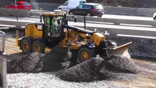 getlinkyoutube.com-CAT 140M Grading Gravel