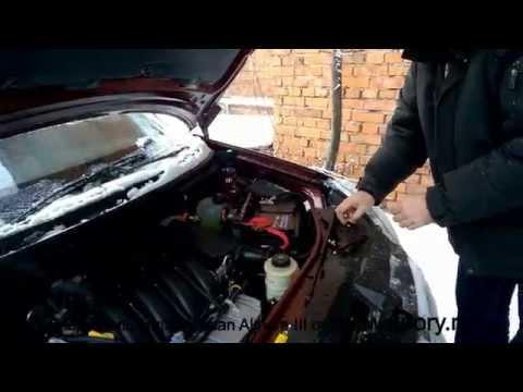 Установка упоров (амортизаторов) капота для Nissan Almera III с рекомендациями