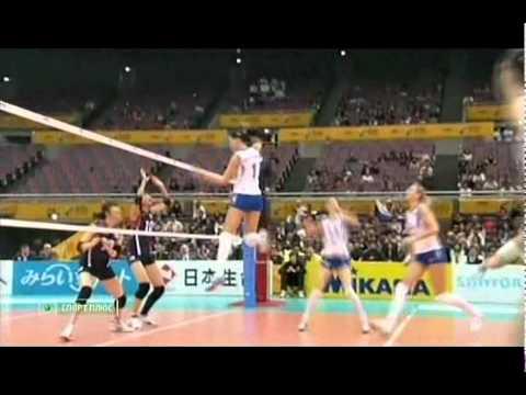 2010 Women's Volleyball World Championship Russia 3x1 Korea Set1