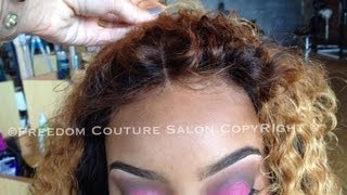 getlinkyoutube.com-Beyonce Inspired Lace Closure Install&Hair Line NO GLUE with Cambodian Curly hair