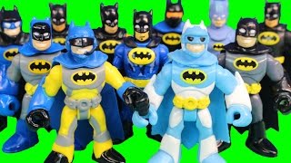 getlinkyoutube.com-Imaginext Cyborg Holds Justice League Tryouts Batman Battles Injustice League Joker Bane & Team
