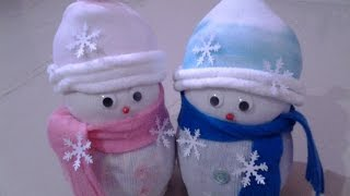 getlinkyoutube.com-DIY Socks Snowman