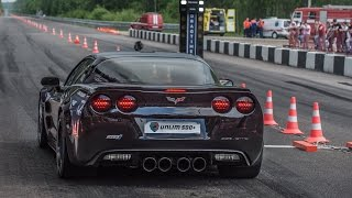 getlinkyoutube.com-Chevrolet Corvette ZR1 vs Mercedes SLS AMG vs Mercedes C63 AMG