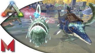 ARK: Survival Evolved - Taming an Icthy and Angler with Sl1pg8r! S2E75 Gameplay