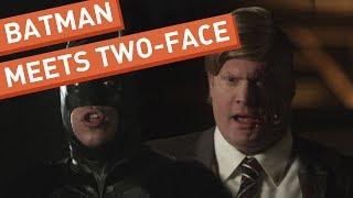 Batman Meets Two-Face width=