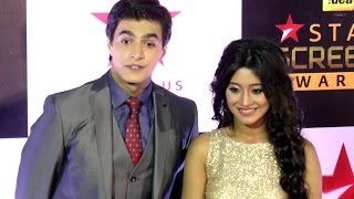 getlinkyoutube.com-Shivangi Joshi & Mohsin Khan at Star Screen Awards 2016
