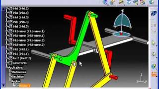 getlinkyoutube.com-CATIA - Theo Jansen's mecha based system
