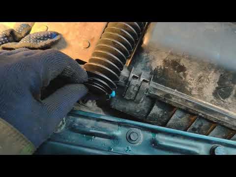 Замена пылника рулевой колонки Audi 80