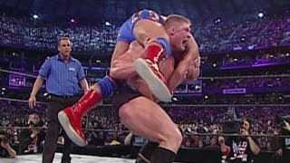 getlinkyoutube.com-Brock Lesnar vs. Kurt Angle: WrestleMania XIX