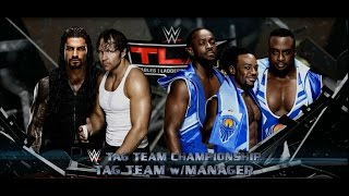 getlinkyoutube.com-WWE 2K16 (Xbox 360) Dean Ambrose & Roman Reigns  vs The New Day.           Tag Team Title Match.