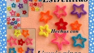getlinkyoutube.com-ESTRELLITAS HECHAS CON LIMPIA PIPAS.- STARS MADE WHIT PIPE CLEANERS