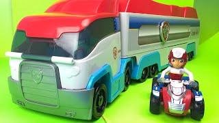 getlinkyoutube.com-Paw Patrol Patroller Truck Ryder Zuma Chase Marshall Rocky Sky Patrulla De Cachorros