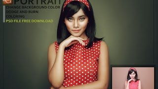 getlinkyoutube.com-PHOTOSHOP TUTORIAL : PORTRAIT :Change Background Color, Coloring