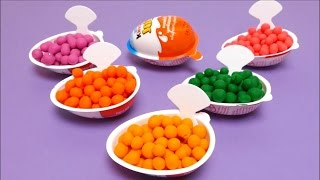 getlinkyoutube.com-Play-Doh Dippin Dots Kinder Joy with Donald Duck, Smurf, Angry Birds, Kung Fu Panda
