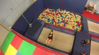 People Have Fun Bouncing on Trampoline