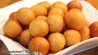 getlinkyoutube.com-ขนมไข่นกกระทา Khanom Kai Nok Krata. Deep fried potato balls.