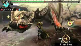 getlinkyoutube.com-Monster Hunter Portable 3rd - Dark Tigrex (Hammer)