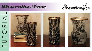 getlinkyoutube.com-Decorative Vase Tutorial | Frosted Look - Easy Handmade Gift Idea