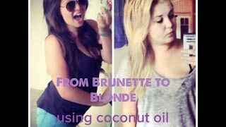 getlinkyoutube.com-From Brunette to White Blonde with Coconut Oil