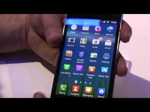Samsung Galaxy SII Android smartphone video demo at MWC Barcelona