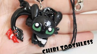getlinkyoutube.com-How to Train Your Dragon- Toothless Night Fury Dragon Polymer Clay Tutorial