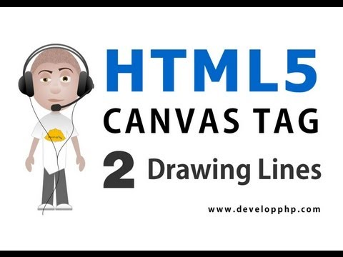 HTML5 Canvas Tutorial Draw Lines and Filled Shapes Using Javascript