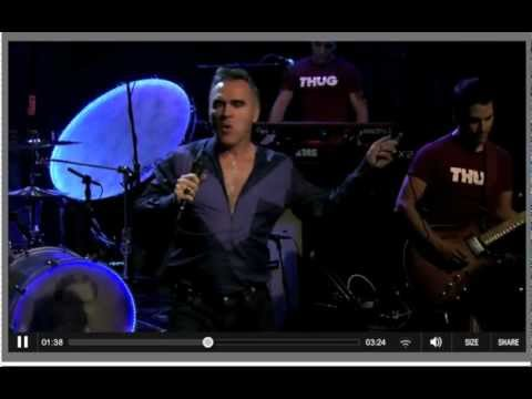 "Morrissey performs ""You Have Killed Me"" on Late Night with Jimmy Fallon {October 3, 2012}"