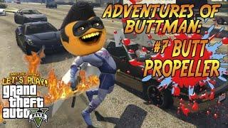 getlinkyoutube.com-Adventures of Buttman #7: Butt Propeller! (Annoying Orange GTA V)