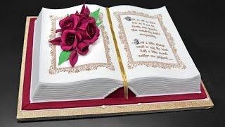 getlinkyoutube.com-How to Make a 3D Book Cake