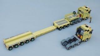 getlinkyoutube.com-Tekno Mercedes-Benz Titan + Goldhofer XLE Trailer 'H N Krane' by Cranes Etc TV